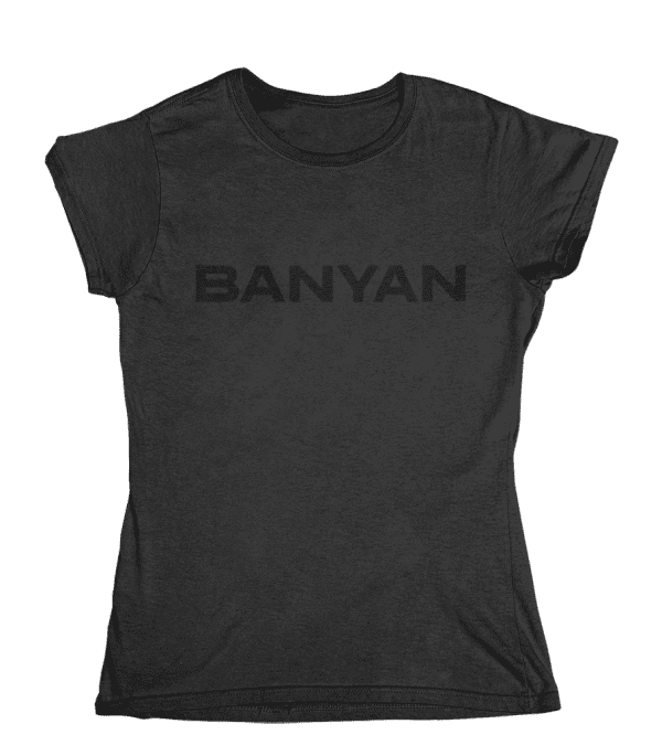 Women's Banyan Black on Black T-Shirt