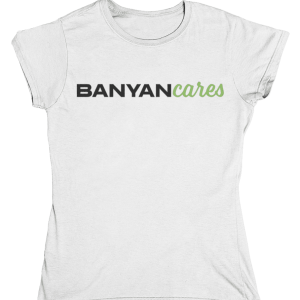 Ladies' Banyan Cares Script T-Shirt
