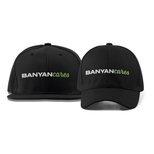 Banyan Cares Script Dad and Flat Brim Hats