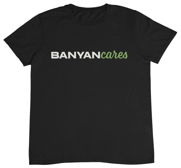Men's Banyan Cares Script T-Shirt Black