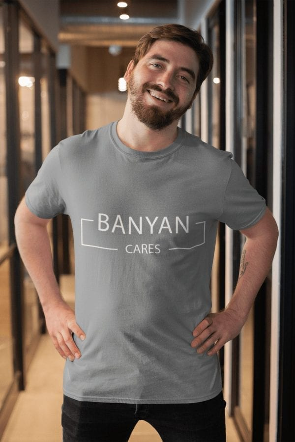 Men's Banyan Cares Block T-Shirt Grey