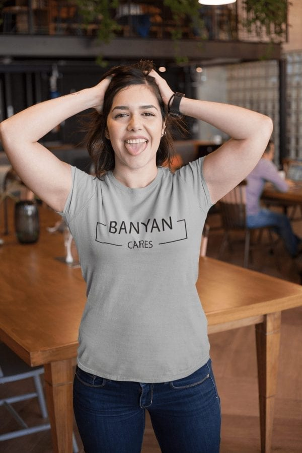 Ladies' Banyan Cares Block T-Shirt Grey
