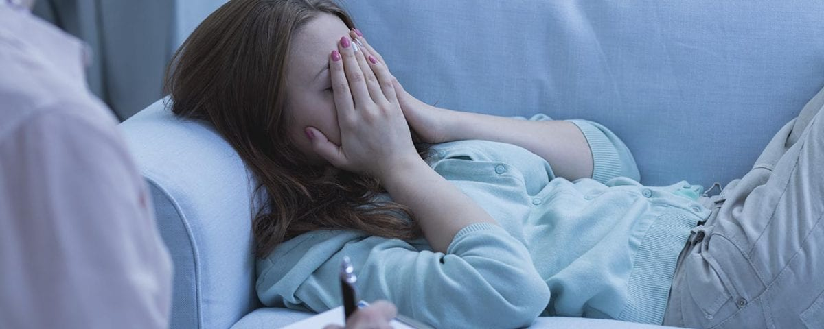woman depressed from detox