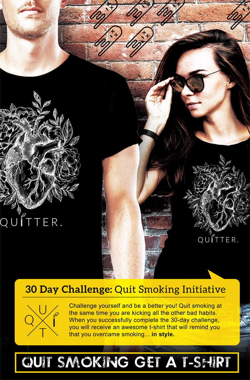 30 Day Quit Smoking Challenge T-shirt